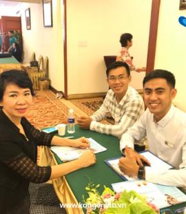 Chị Nhâm, khách hàng nhận được ưu đãi đầu tiên từ Kangen KTB